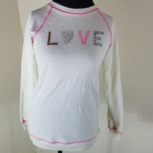 Cherokee Top With Word Love In Glitter on Front